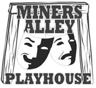 logo for Miner's Alley Playhouse, Golden Colorado