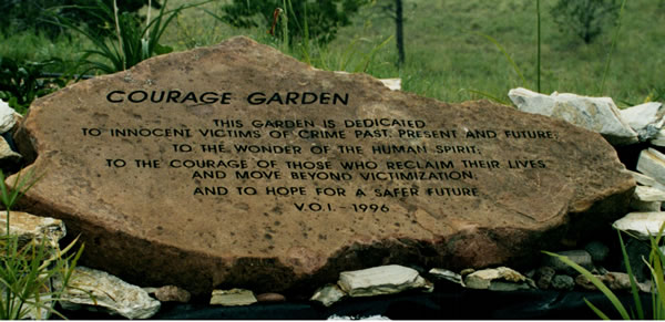 photo of courage garden stone